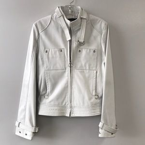 Luxe Arden B White Leather Jacket